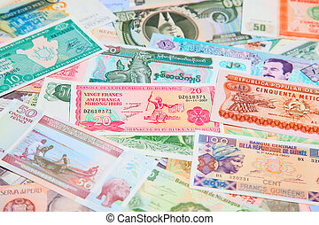 Foreign notes - Collection of the old foreign notes