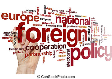 Foreign policy word cloud concept
