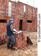 Foreman alone on site