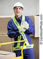 Foreman At Warehouse