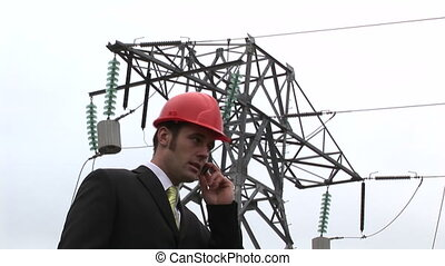 Foreman at Work - Stock Footage of a Construction Foreman at...
