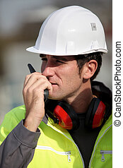 Foreman communication via radio
