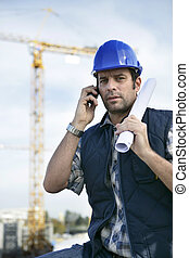 foreman in construction site