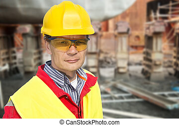 Foreman - Portrait of a foreman in a dry dock