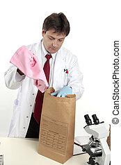 forense, scienziato, prova