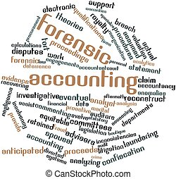 Forensic accounting - Abstract word cloud for Forensic...