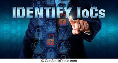 Forensic Investigator Pressing IDENTIFY IoCs - Forensic...