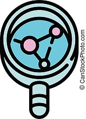 Forensic laboratory evidence icon, outline style - Forensic ...