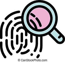 Forensic laboratory icon, outline style - Forensic ...