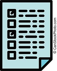 Forensic laboratory test paper icon, outline style - ...
