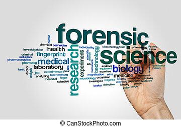Forensic science word cloud