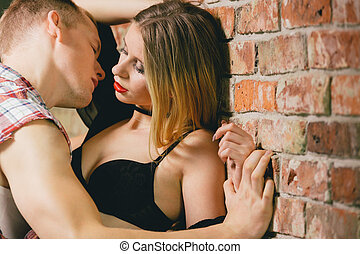 Foreplay on a brick wall