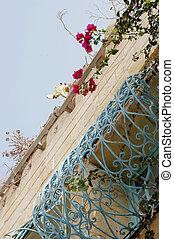 foreshortening, costruzione, tunisino, tradizionale