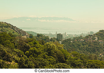 Forest and city view over Rio De Janero