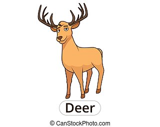 Forest animal deer cartoon for children vector