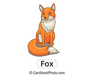 Forest animal fox cartoon for children