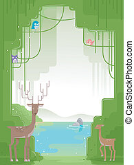 Forest Animals Background
