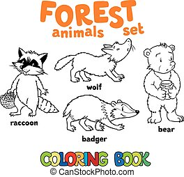 Forest animals coloring book
