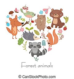 Forest animals.