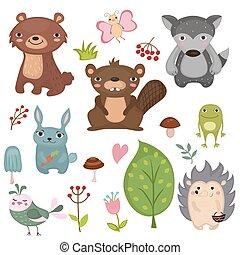 Forest animals.