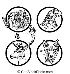 forest animals rings 2