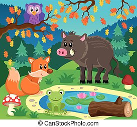 Forest animals topic image 2
