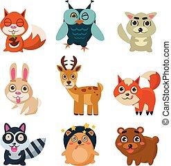 Forest Animals Vector Illustration