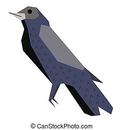 forest bird flat illustration