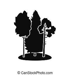 Forest black simple icon