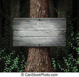 Forest Blank Sign