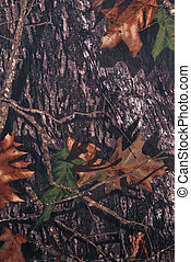 Forest camouflage fabric in a vertical orientation