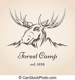 Forest camp logo - Forest camp or touristic company logo...