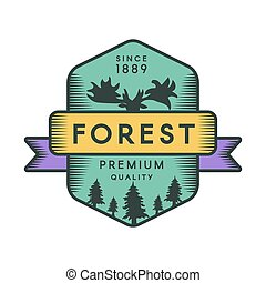 Forest color logo template