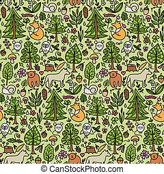 Forest color seamless pattern