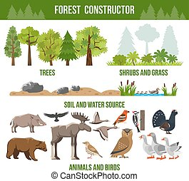 Forest Constructor Poster - Forest constructor poster with...