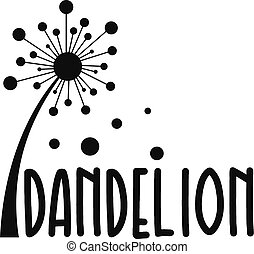 Forest dandelion logo icon, simple style.