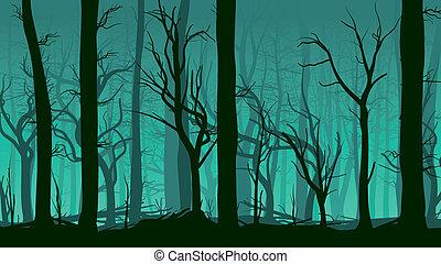 forest., deadwood, ilustración