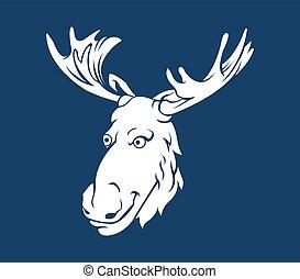 Forest Deer Head Silhouette