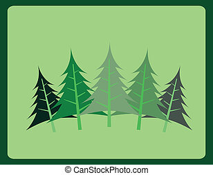forest design over  green background vector illustration