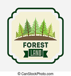 forest design over white background vector illustration