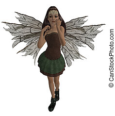 Forest Fairy - Guardian fairy of the forest in a standing...