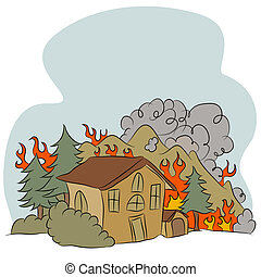 Forest Fire - An image of an forest fire.