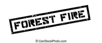 Forest Fire rubber stamp