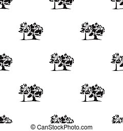 Forest fire vector icon in black style for web