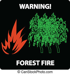 forest fire warning sign
