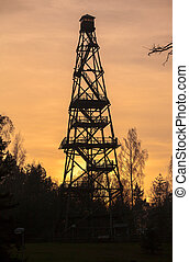 Forest fire watch tower