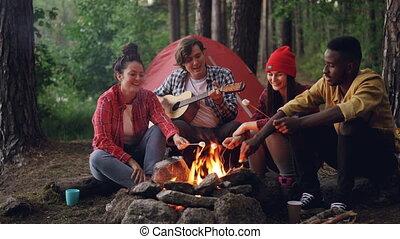 forest., guimauve, chansons, nature, amitié, concept.,...