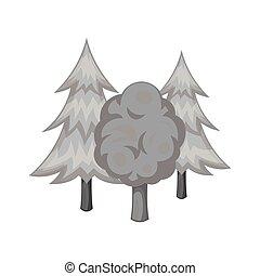 Forest icon, black monochrome style