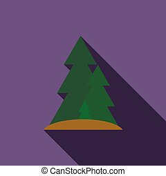 Forest icon, flat style