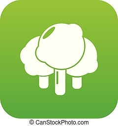 Forest icon green vector